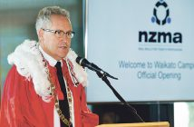 Mayor Andrew King speaks at the opening. Photos: Barker Photography