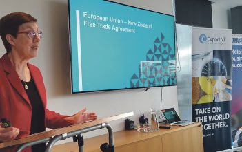 """Michelle Slade said the EU was the """"missing link"""" in New Zealand's free trade agreements."""
