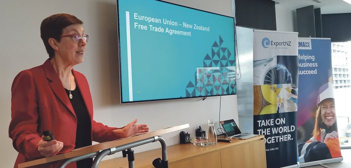 "Michelle Slade said the EU was the ""missing link"" in New Zealand's free trade agreements."