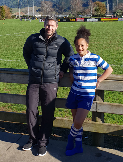 Steve Laurie of Craigs Investment Partners attending Kailani's rugby match.