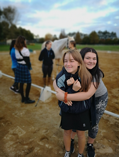 Lily Ritchie and Saara Helen enjoying making friends in The WaterBoy program.