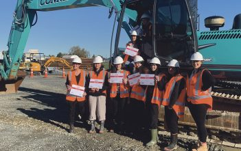 Digger driving – a huge hit at Connell Contractors' GWHV event.