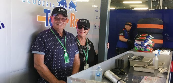 Roy and Annette at the Formula 1 Australian Grand Prix.