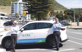 Alan Wilkinson, CKL Tauranga Branch Manager and Mark Batchelor, CKL Tauranga Planning Manager.