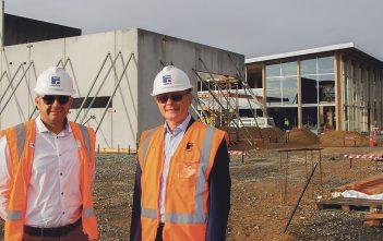 "Ebbett Group directors, Walter and Ben van den Engel, visit the new site at Te Rapa Gateway""."