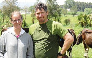 Rach and Tim Phillips have overcome difficult challenges on the property that runs 280 cows.