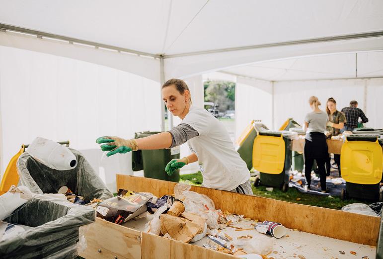 Volunteers at Fieldays 2019 helping to sort waste.