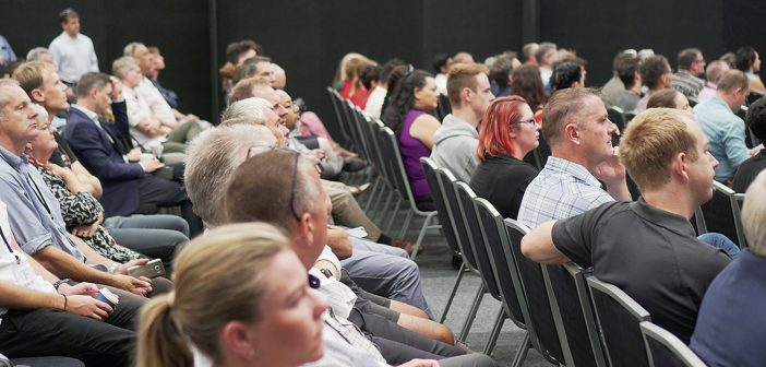 An attentive audience at TechFest 2020.