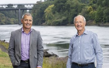 Vital link: Bridge supporters Geoff Taylor and Don Law. Photo: Peter Drury