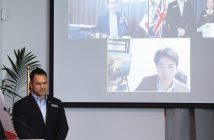 Chief executive Gigi Crawford and general manager Sen Kong link from Zealong Tea Estate via video with their Japanese partners