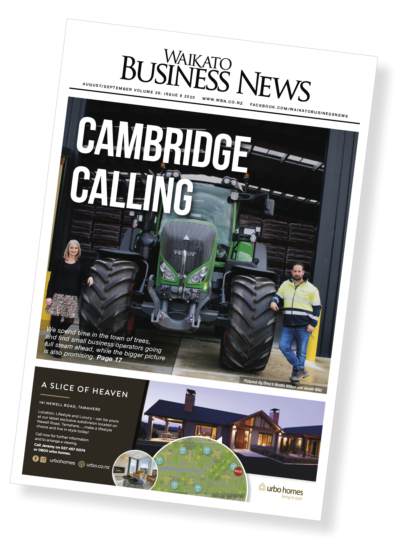 Waikato Business News August/September cover
