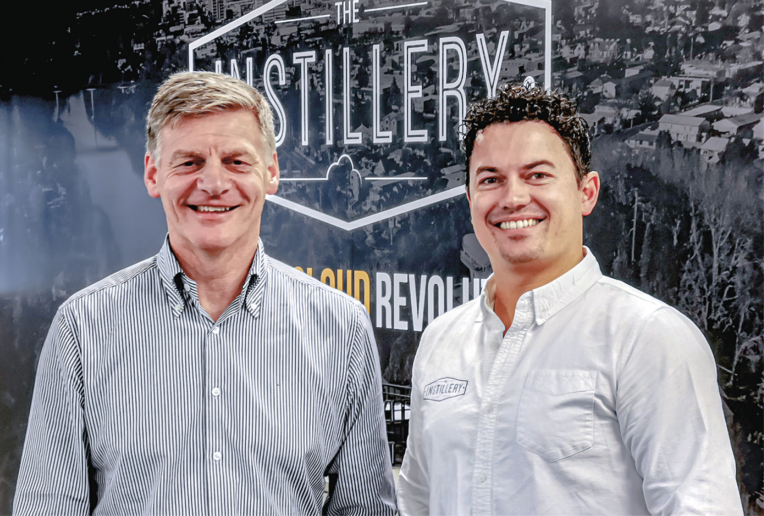 The Instillery independent director Bill English and chief executive Mike Jenkins