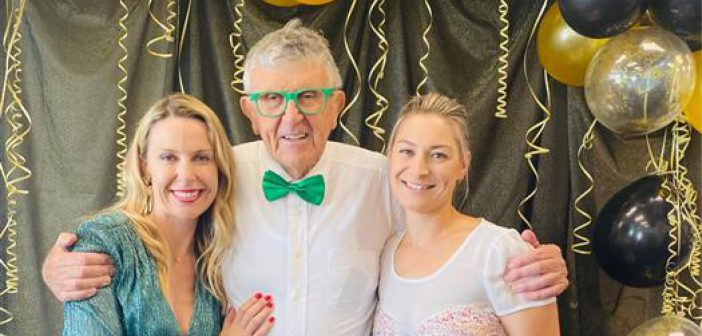 Time to celebrate: Waikato Real estate business development manager Michelle Pearson, director Michael Murray and general manager Cherie Osbaldiston