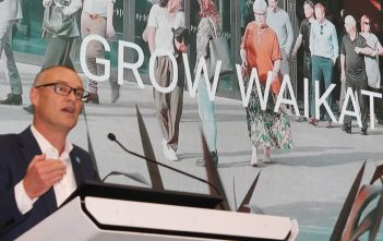 David Clark at the Grow Waikato event.