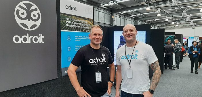 Adroit's Blair Stewart, left, and Guy Macpherson attended from Auckland to make connections with Waikato business.