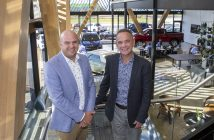Walter van den Engel and Karl Nation at the new Ebbett showroom