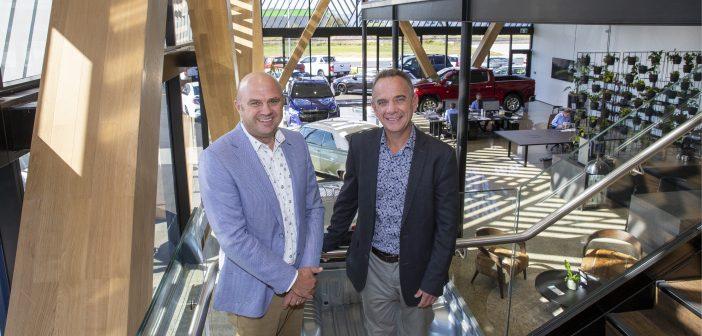 Walter van den Engel and Karl Nation at the new Ebbett showroom