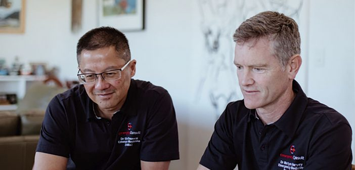 Emergency Consult doctors and founders Giles Chanwai and Martyn Harvey.
