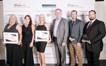 AgDrive took out both Excellence in Emerging/New Business and the Innovation and Adaptation Award at the Waipa Networks Business Awards. Photo: Cornegiephotography