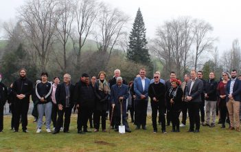 There was a large turnout for the blessing at the northern entrance to Tokoroa
